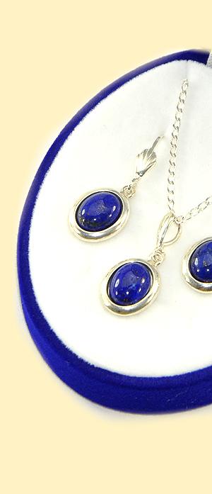 Lapis lazuli dárková sada stříbro