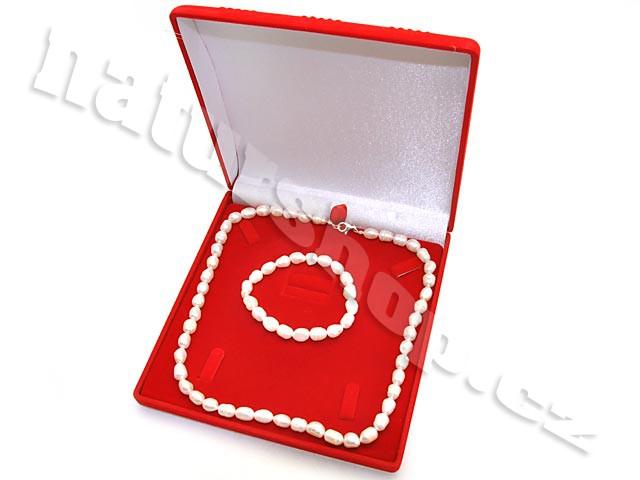 Dárková sada - bílé perly typ221