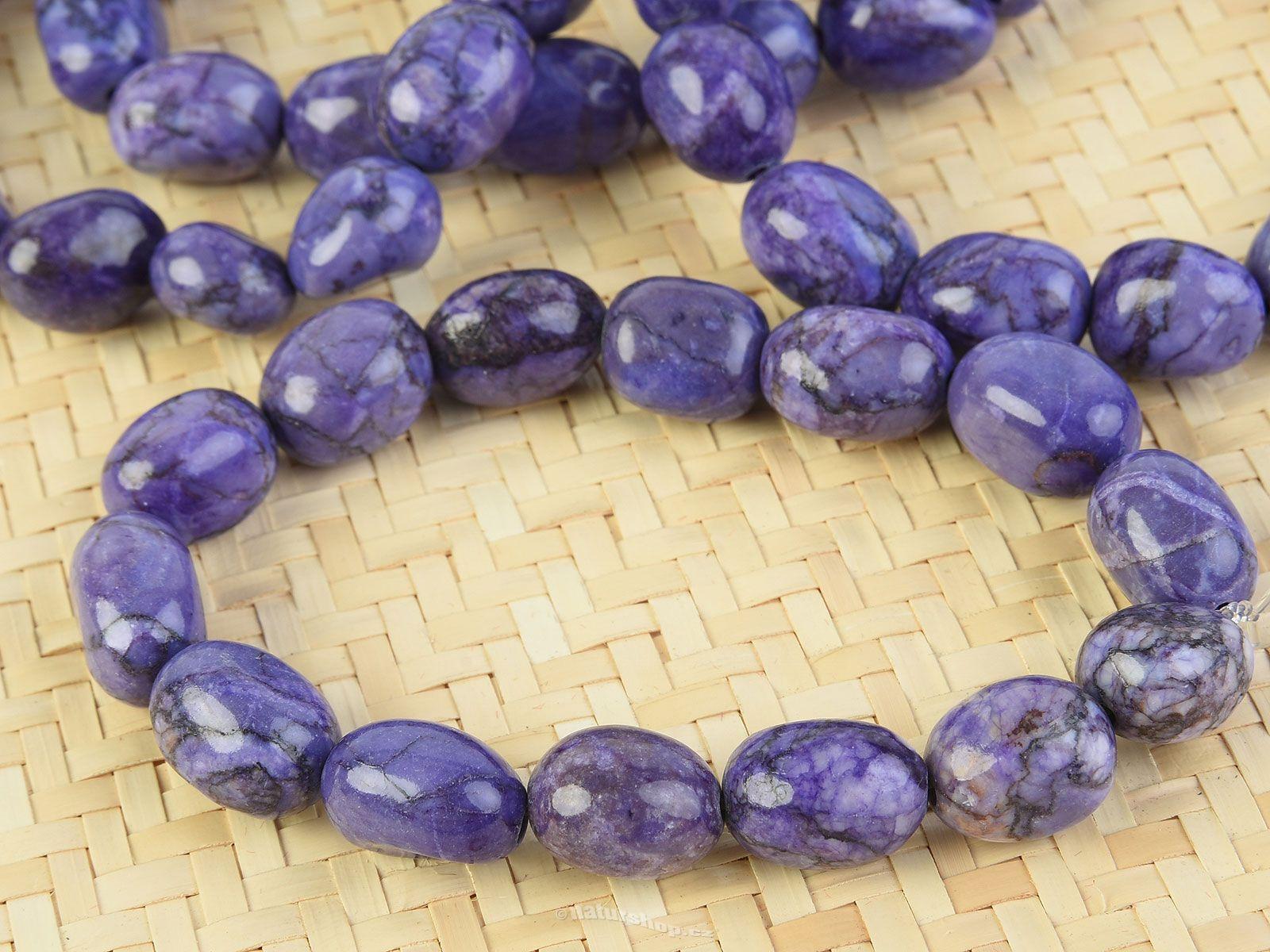 abba94406616f7 Bracelet colored stones blue-violet - naturshop.cz