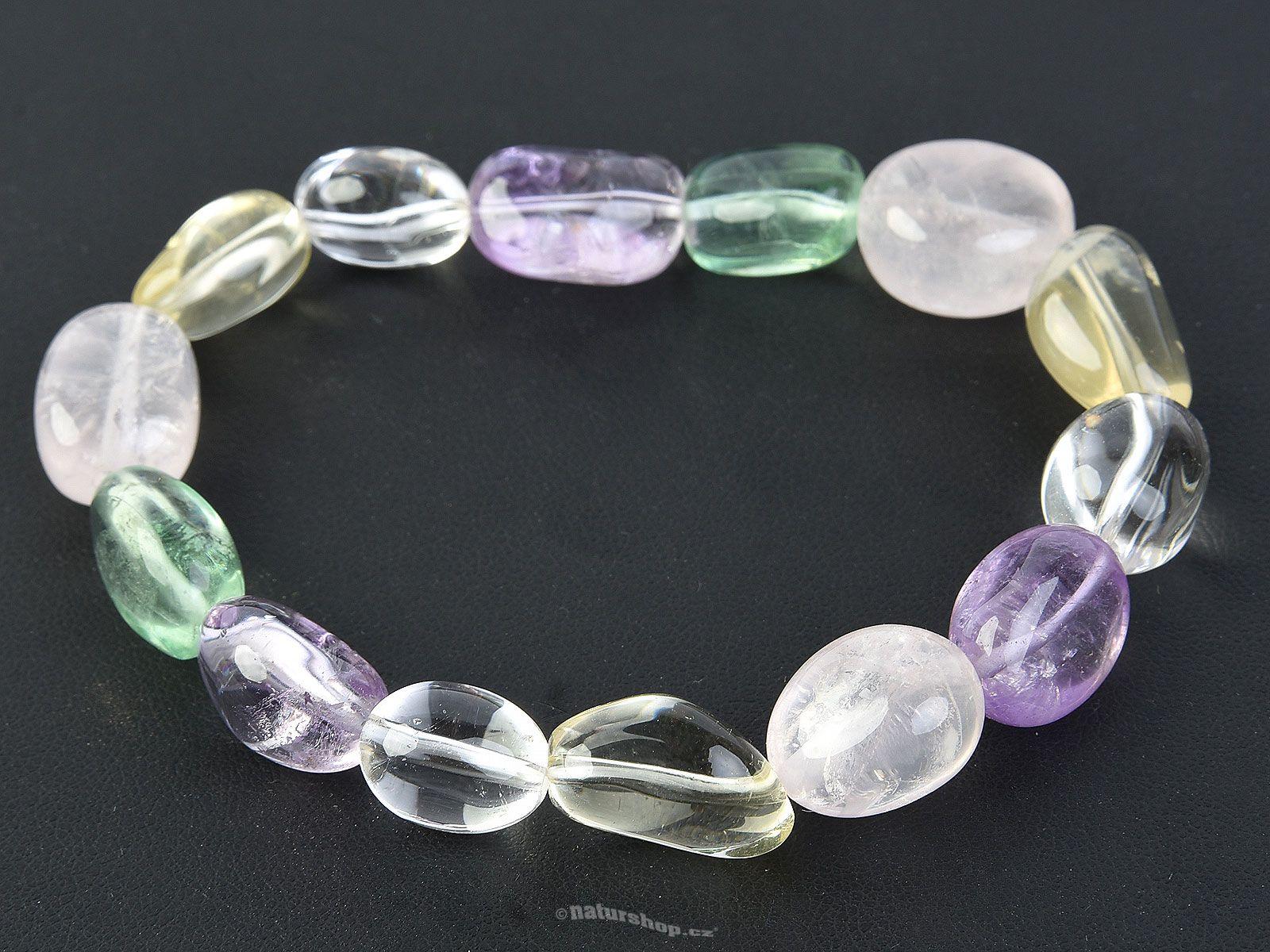 807906162c5d40 Bracelet with mixed stone nuggets - naturshop.cz