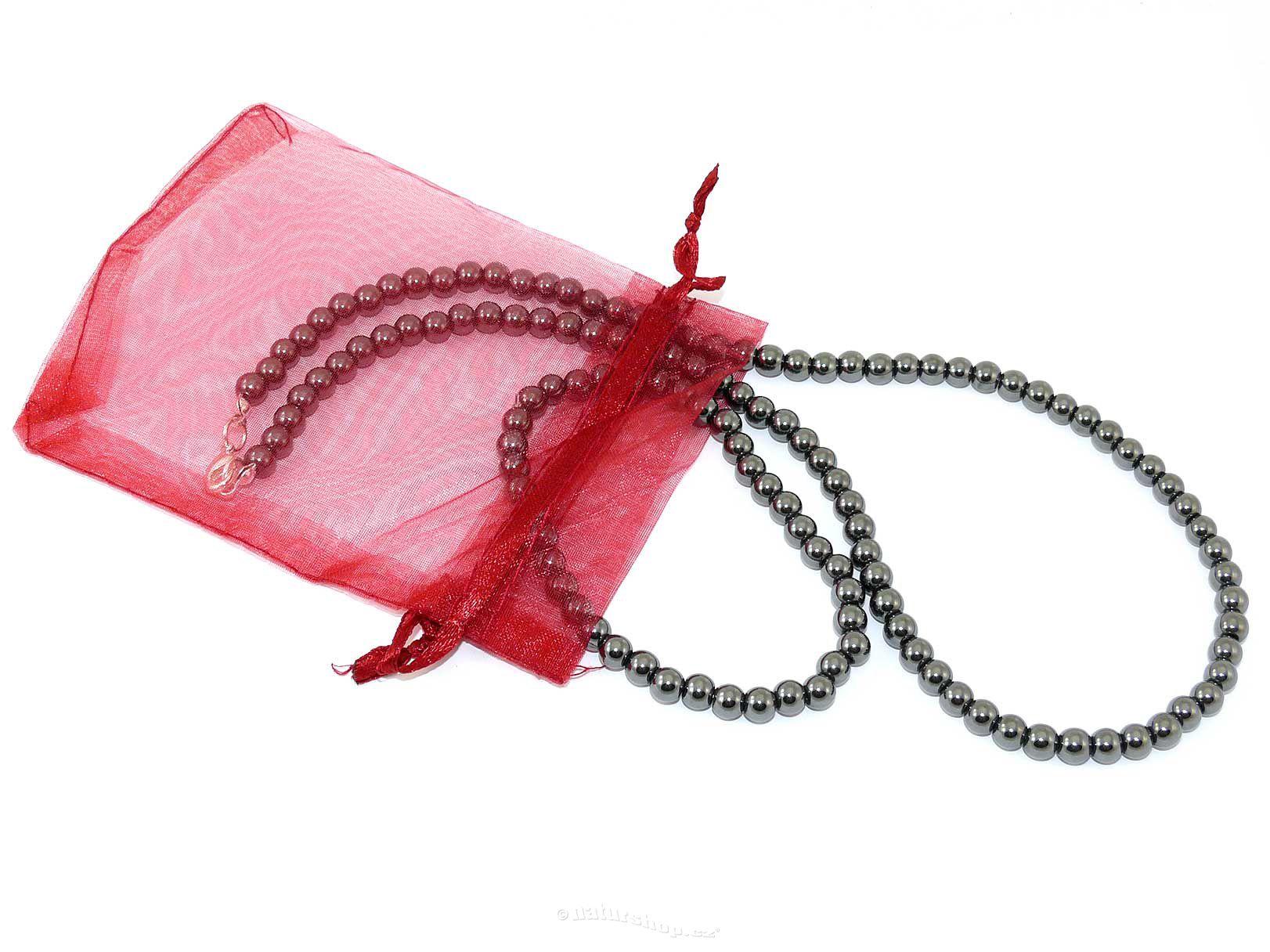 Dárková sada hematit šperky kuličky 6mm