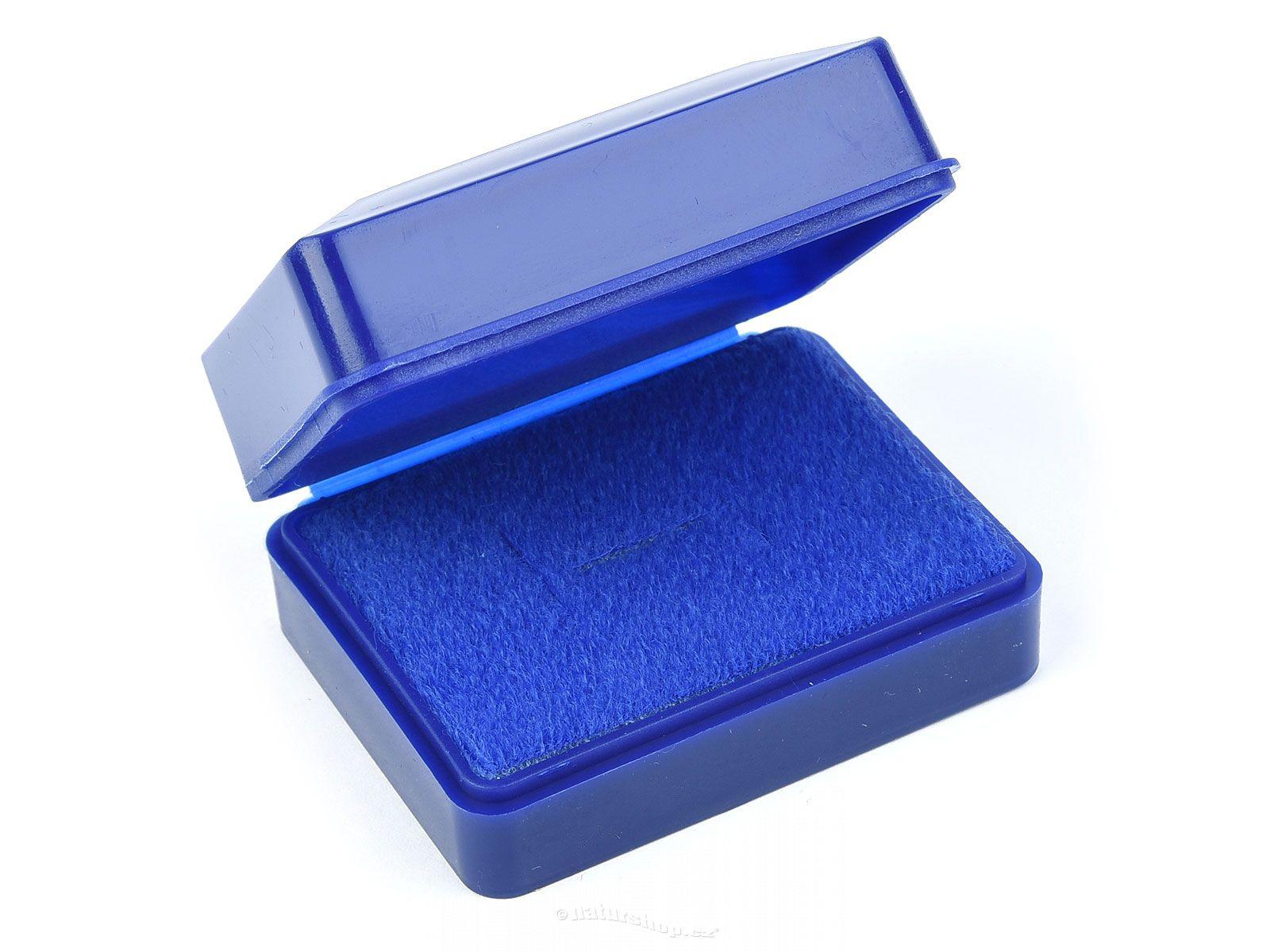 Acrylic Box 4 X 4 : Plastic gift box blue cm natur cz