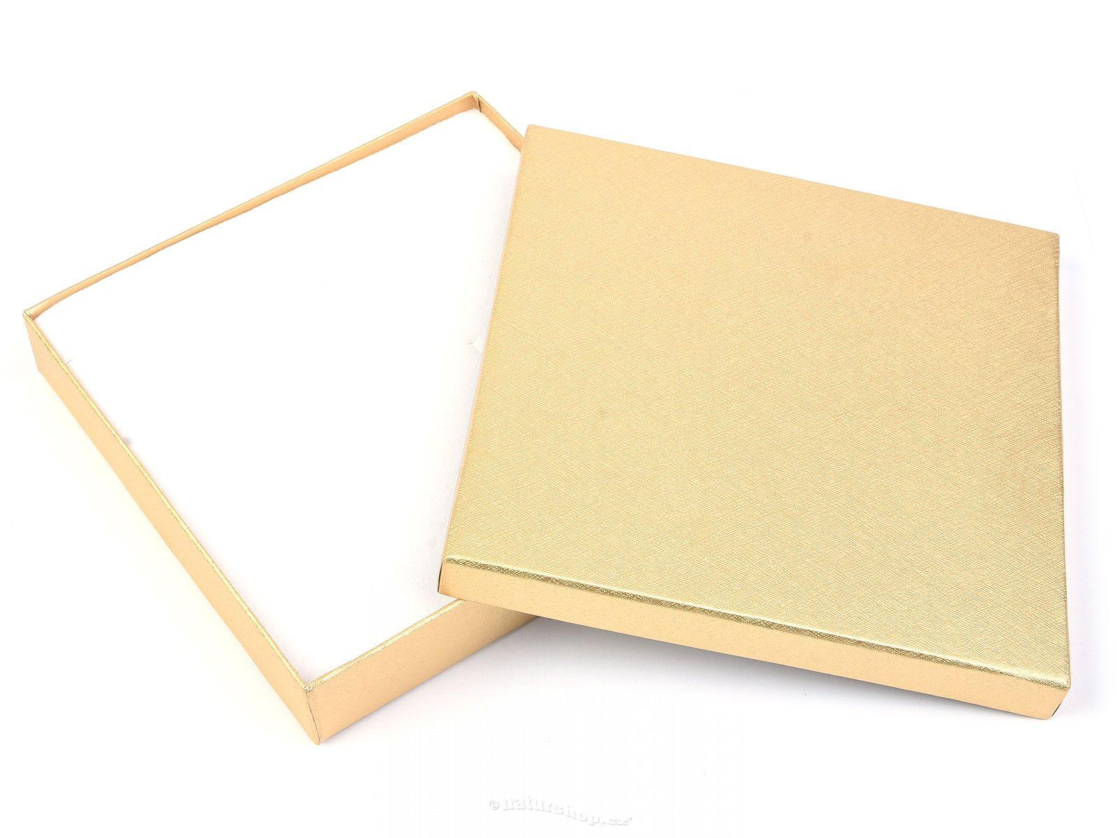 Large Gold Favor Boxes : Gold gift box large cm natur cz