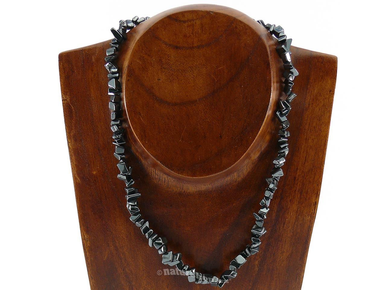 Hematit náhrdelník větší kameny (45cm)