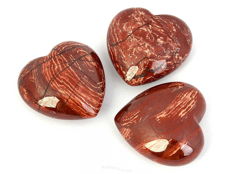 Jasper convoluted heart into palm 45mm