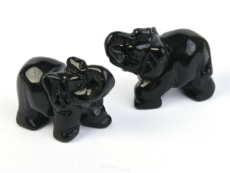 Obsidian elephant for good luck