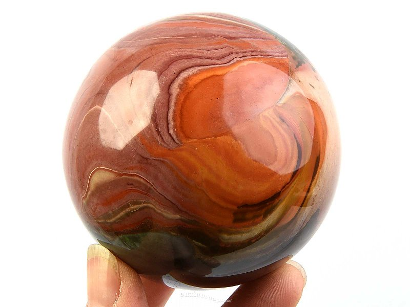 Ball jasper variegated Ø 71mm Madagascar 479g