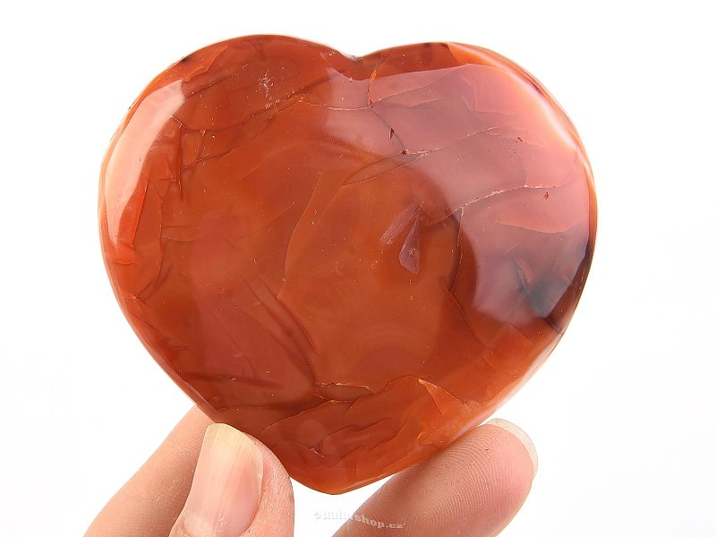 Carnelian heart from Madagascar 127g