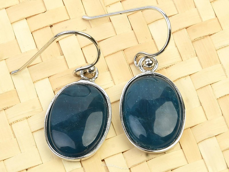 Apatite dangling oval earrings Ag 925/1000