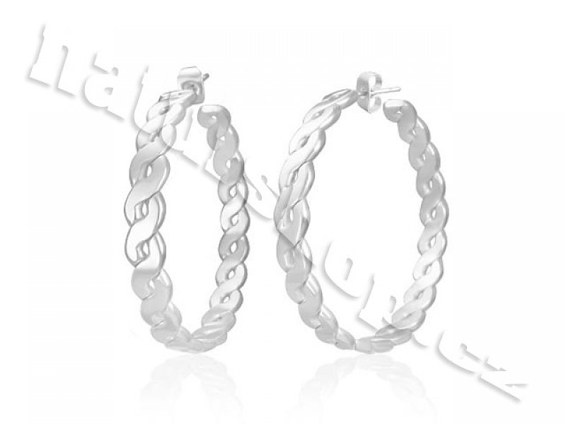 Earrings circles Stainless steel 42mm