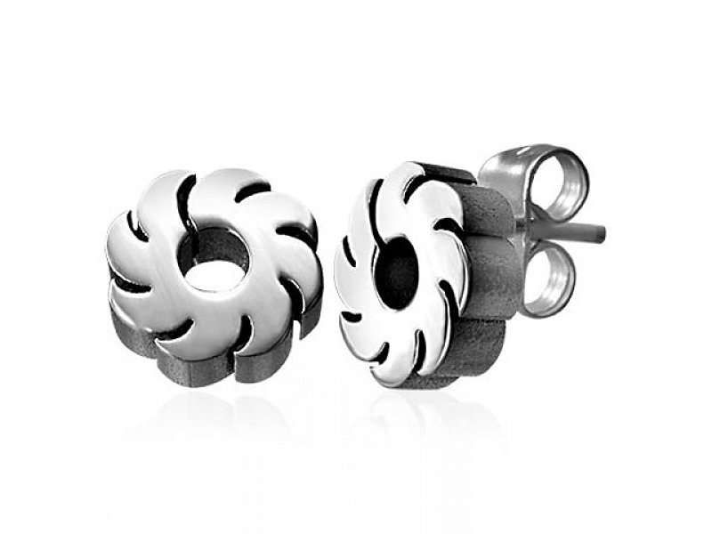 Stainless steel earrings steel JES062