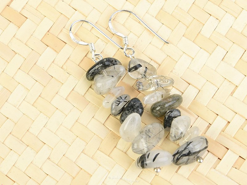 Tourmaline crystal earrings in the shapes chopped Ag