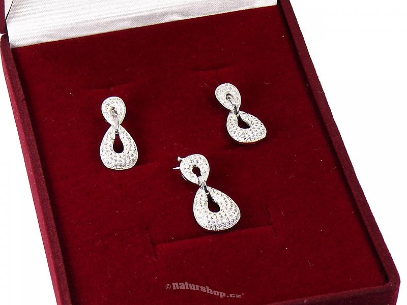 Jewelry Set Silver Ag 925/1000 + Rh (typ003)