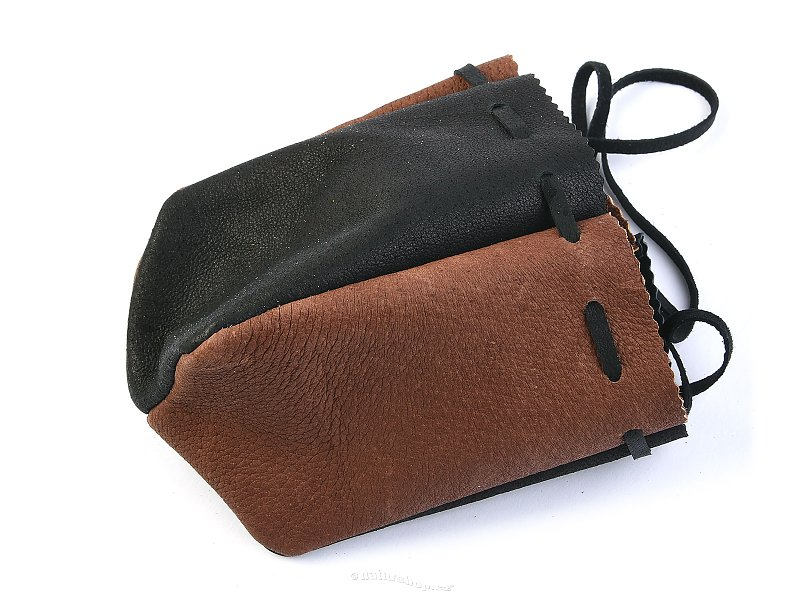 Purse leather black-brown
