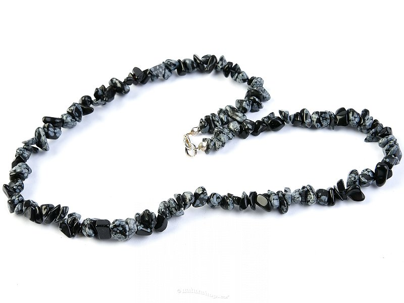 Obsidian flake necklace (45 cm)