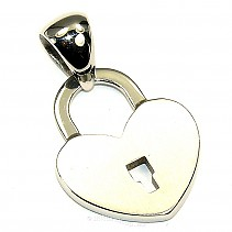 Steel Heart Pendant with lock typ092