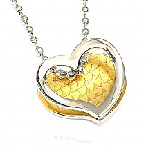 Surgical steel heart pendant typ099
