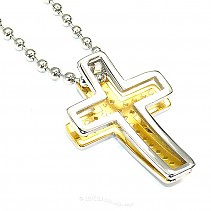 Surgical steel cross pendant typ101