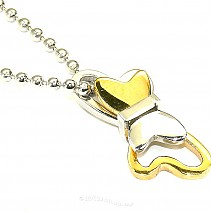 Butterfly pendant + chain typ103