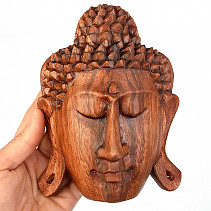Head Buddha wood wall (Indonesia) 15cm