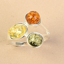 Amber ring trio mix Ag 925/1000