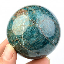 Blue apatite ball (Madagascar) Ø 57mm