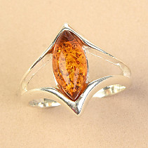 Silver ring with honey amber Ag 925/1000