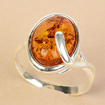 Ag 925/1000 Amber Ring Oval