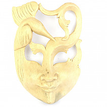 Mask hand carved light from Indonesia 24.5cm