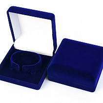 Blue velvet gift box for bracelet 9 x 9cm