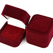 Velvet gift box for burgundy ring