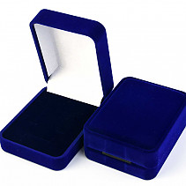 Velvet gift box blue rectangle 7.8 x 6cm