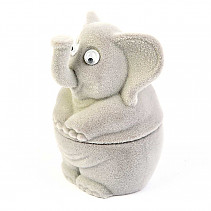 Velvet gift box gray elephant