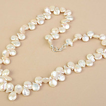 Necklace Keshi pearls larger Ag fastening 51cm