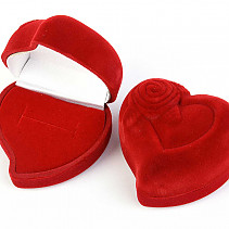 Heart gift box red (6 x 5.5cm)