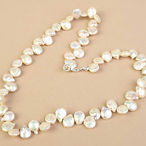 Necklace Keshi pearls larger Ag fastening 50cm