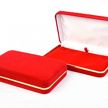 Velvet gift box red with gold stripe (18 x 11cm)