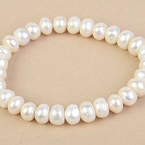 Bracelet made of white pearl buttonsy large