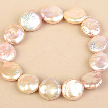 Pearls pink coin bracelet