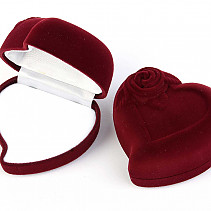 Gift box heart burgundy (6 x 5,5cm)