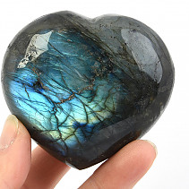 Labradorite smooth heart 204g