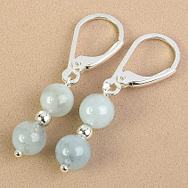 Aquamarine Earrings Beads Ag fastening