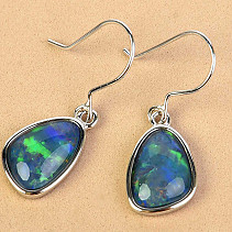 Australian boulder opal earrings hooks 2.7g