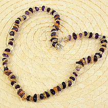 Amethyst and citrine necklace mix 50cm