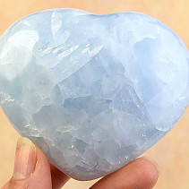 Blue calcite heart shape 260g