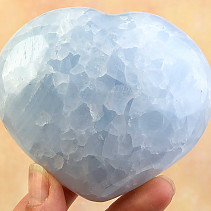 Blue calcite heart shape 390g