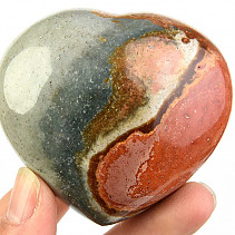 Jasper imperial polished heart 209g
