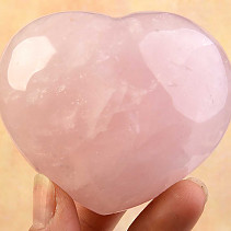 Smooth heart of rose quartz 263grams