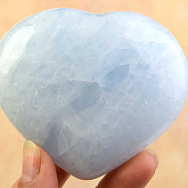 Smooth heart calcite blue 72mm