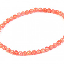Rhodochrosite bracelet ball 4mm